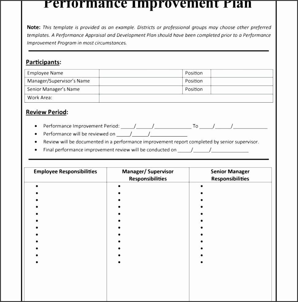 Performance Improvement Action Plan Template Awesome 5 Employee Performance Improvement Plan Template