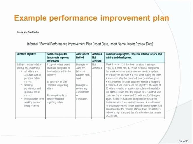 Performance Improvement Plan Template Excel Best Of Performance Improvement Plan Template