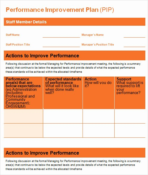 Performance Improvement Plan Template Excel New 27 Plan Templates