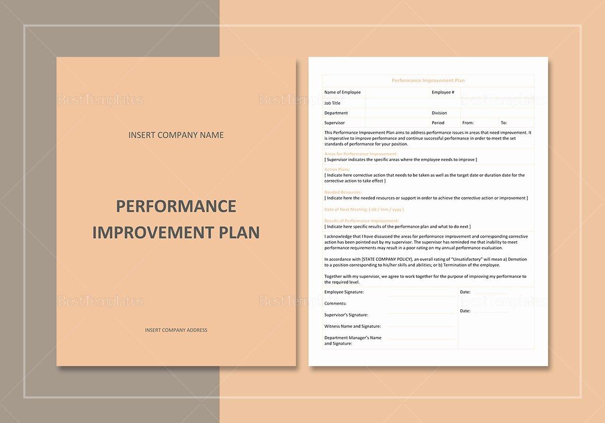 Performance Improvement Plan Template Word Best Of Performance Improvement Plan Template In Word Google Docs