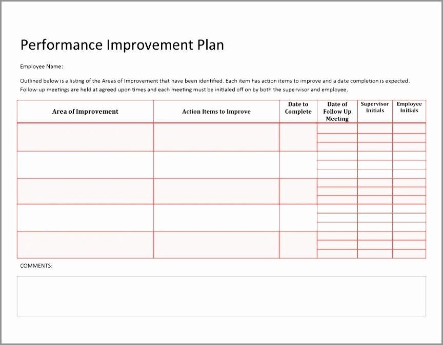 Performance Improvement Plan Template Word Lovely 10 Sample Performance Improvement Plan Template Oaaoe