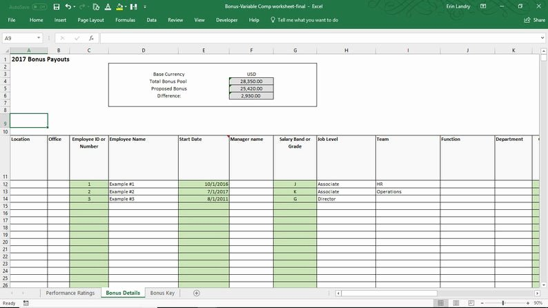 Performance Incentive Plan Template Best Of Employee Bonus Excel Template Incentive Plan Calculation