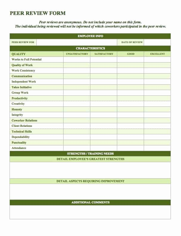 Performance Review form Template Beautiful Free Employee Performance Review Templates