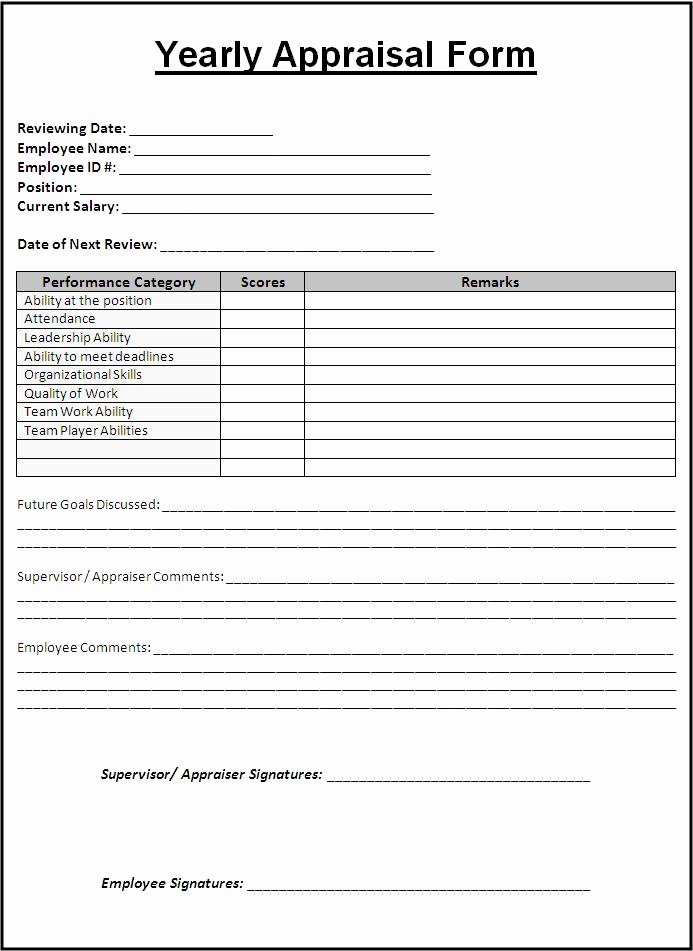 Performance Review form Template Best Of How to Prepare A Yearly Appraisal form