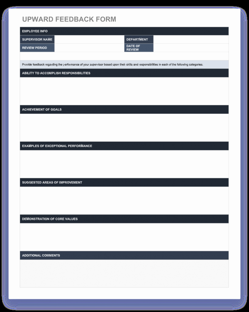 Performance Review Template Free Luxury 70 Free Employee Performance Review Templates Word Pdf