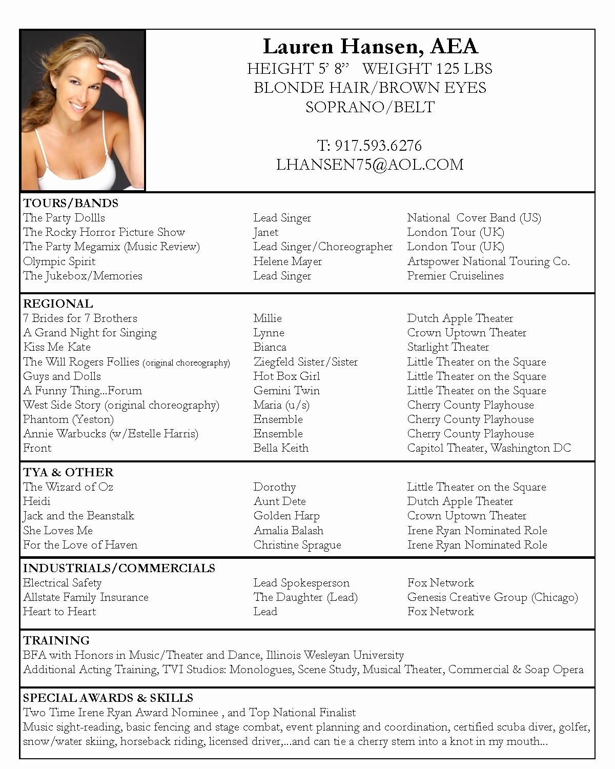 Performing Arts Resume Template Inspirational Pin by Kaarin Pigford On Let S Put On A Show In 2019
