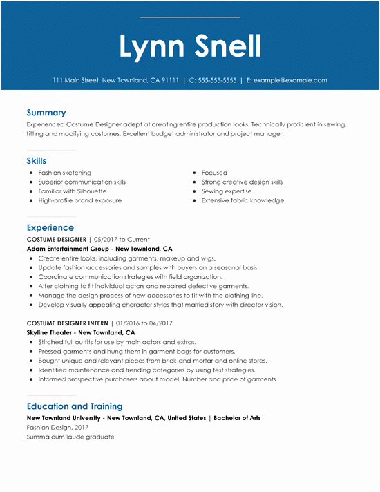Performing Arts Resume Template Lovely 20 Best Resume Templates Of 2019