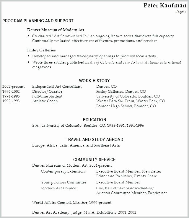 Performing Arts Resume Template Lovely Munity Service Resume Template – Stagingusasportfo