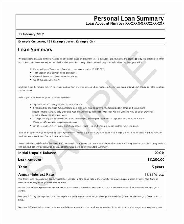 Personal Loan form Template Awesome Free 37 Free Loan Agreement forms
