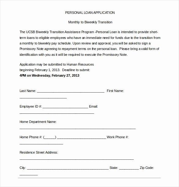 sample loan application template