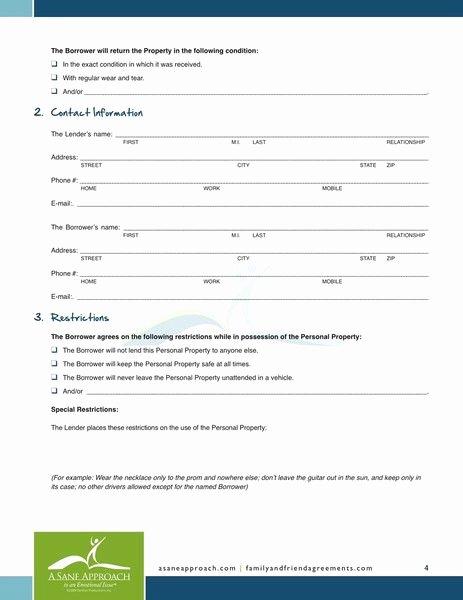Personal Loan form Template Elegant Printable Sample Personal Loan Agreement form