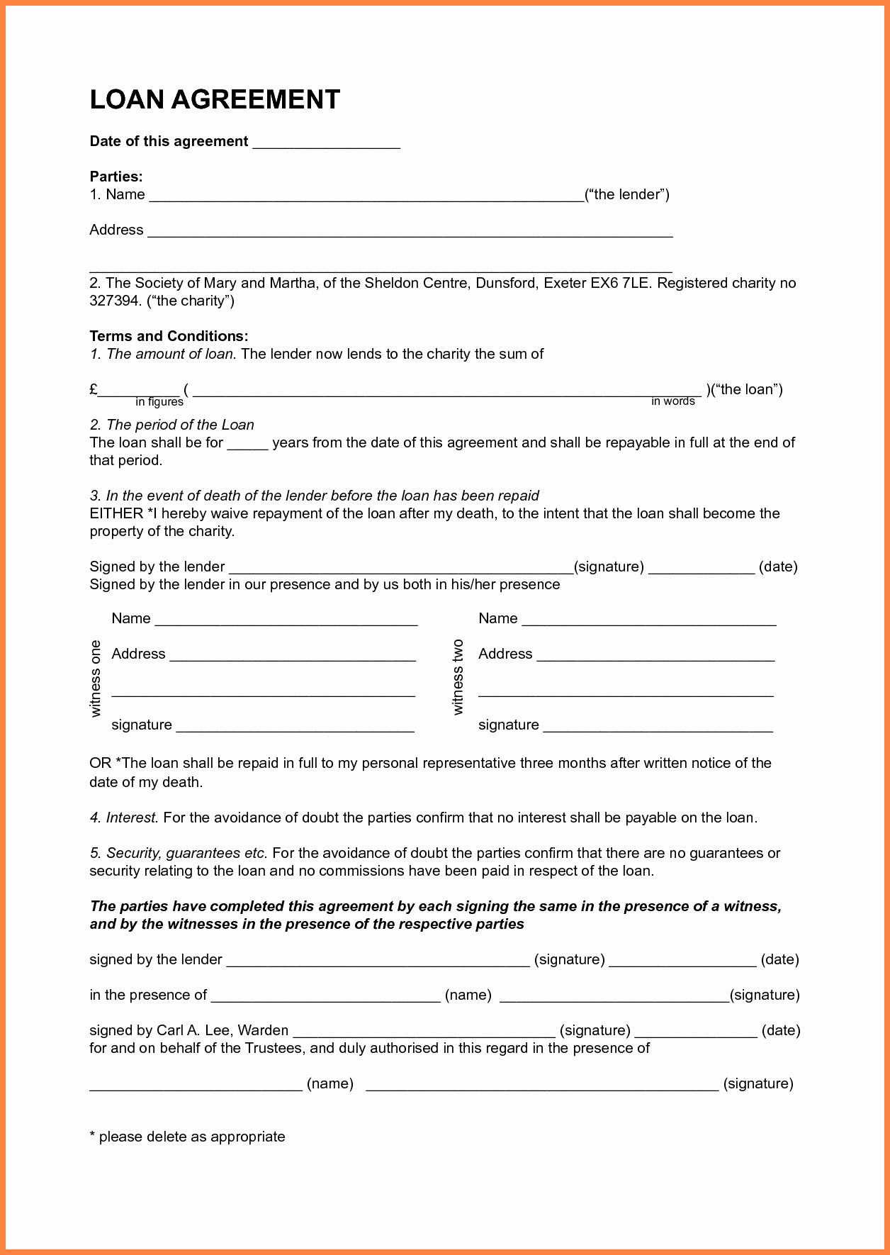 Personal Loan forms Template Best Of 6 Sample Personal Loan Agreement Template