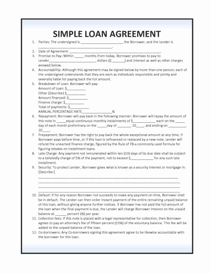 Personal Loan forms Template Elegant 14 Loan Agreement Templates Excel Pdf formats