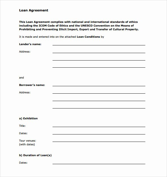Personal Loan forms Template Inspirational Sample Personal Loan Agreement 6 Free Download Free