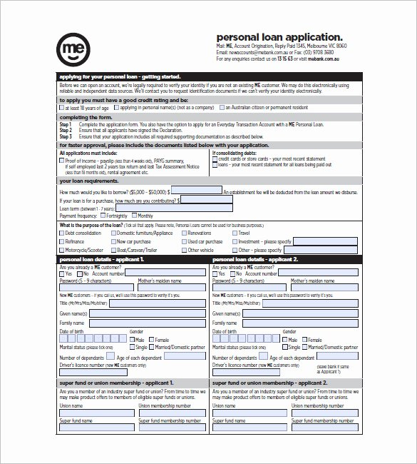Personal Loan forms Template Lovely 8 Note Template for Personal Loan Templates – Free Sample