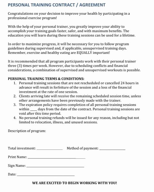 Personal Trainer Waiver form Template Awesome Last Minute Cancellations How to Deal with Personal