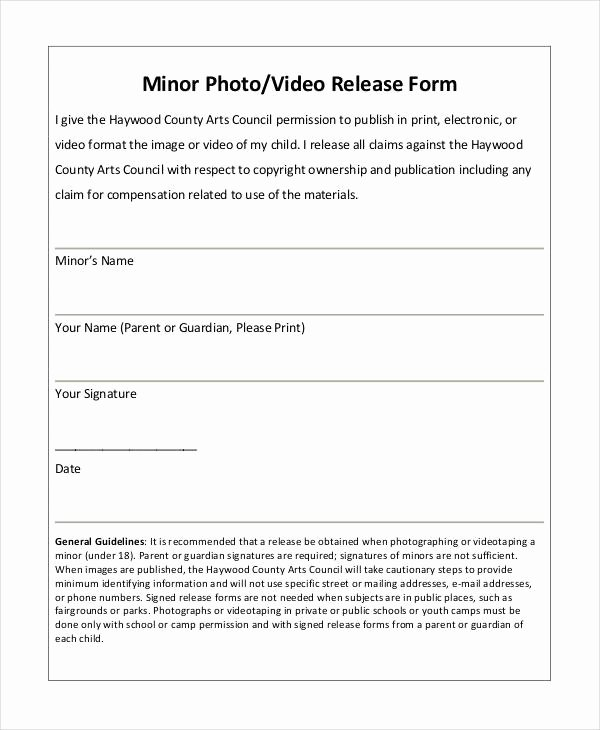 Personal Trainer Waiver form Template Unique Release form Template 9 Free Pdf Documents
