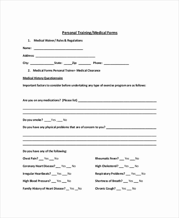 Personal Trainer Waiver form Template Unique Sample Release Of Liability form 9 Examples In Pdf Word