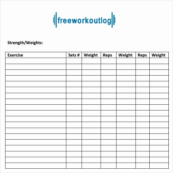 Personal Trainer Workout Plan Template Beautiful Free 8 Workout Log Templates In Pdf
