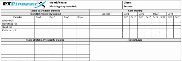Personal Trainer Workout Plan Template Beautiful Podcast 1 Personal Trainer Job Description Ptpioneer