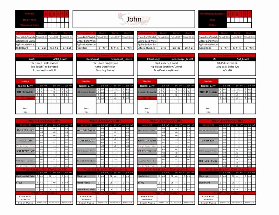 Personal Trainer Workout Plan Template Lovely Personal Training Template