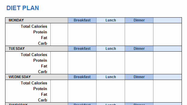 Personal Trainer Workout Plan Template Lovely Weight Training Plan Template for Excel