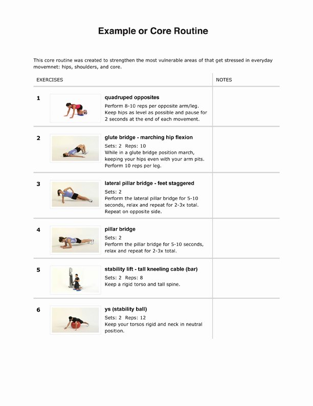 Personal Trainer Workout Plan Template Luxury Personal Trainer Strength Training Program Sample