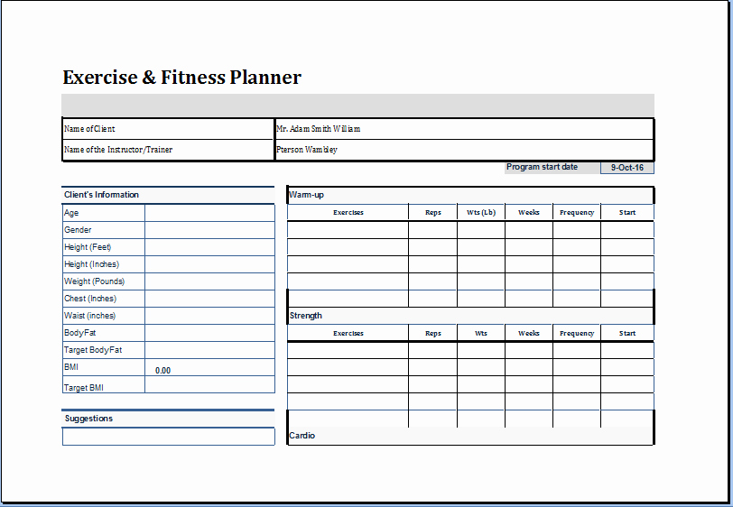 Personal Trainer Workout Plan Template Unique Pin by Microsoft Fice Templates On Microsoft Templates