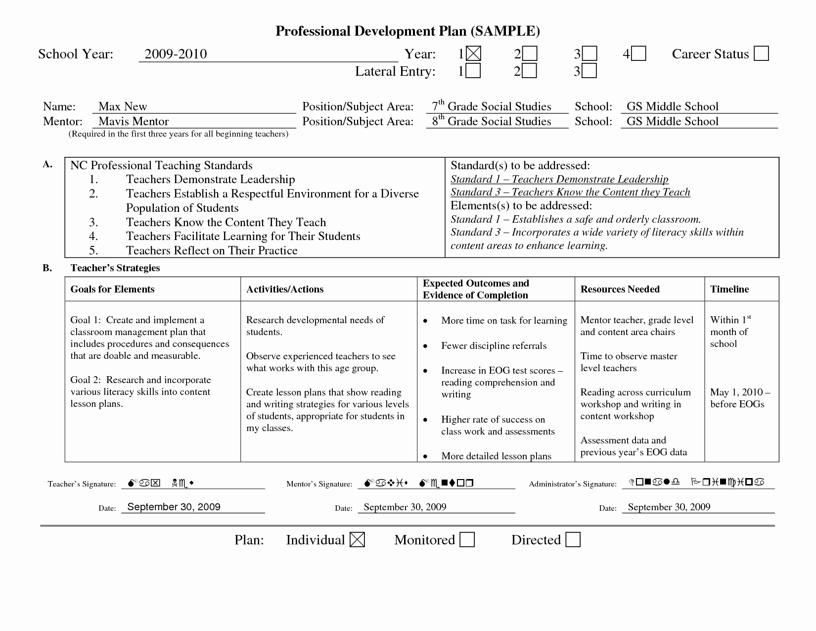 Personalized Learning Plan Template Elegant Professional Learning Plan Examples Google Search