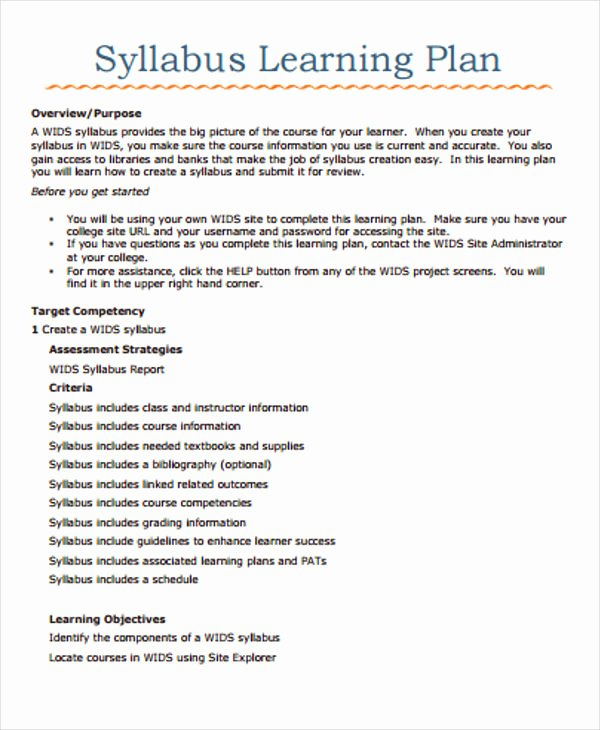 Personalized Learning Plan Template Luxury Learning Plan Template 10 Free Samples Examples format