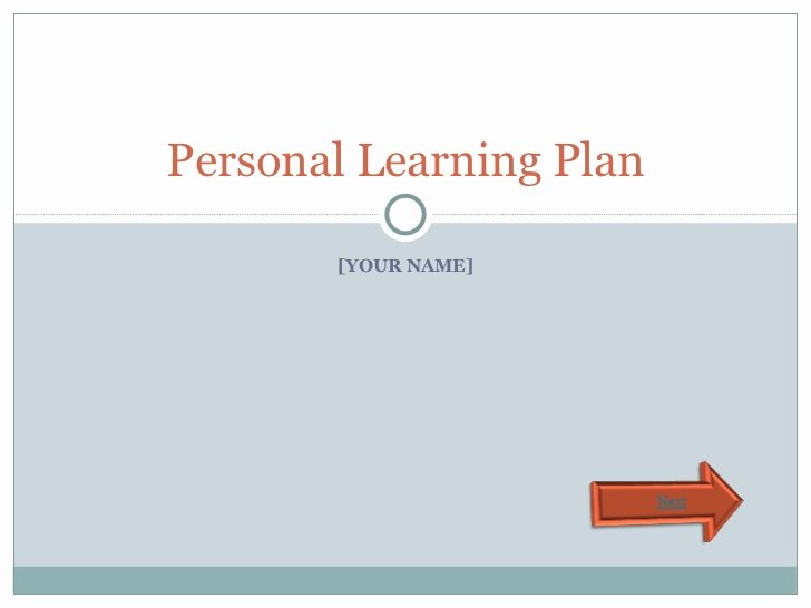 Personalized Learning Plans Template Inspirational Personal Learning Plan Template