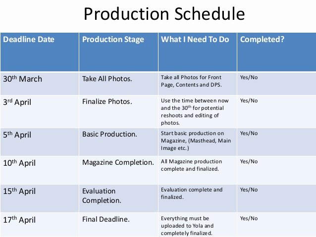 Photo Shoot Schedule Template Inspirational Production & Photoshoot Schedule Corey Keepence
