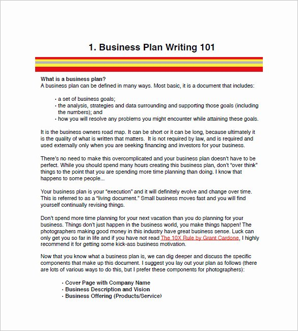 Photography Business Plan Template Elegant Graphy Business Plan Template 12 Free Word Excel