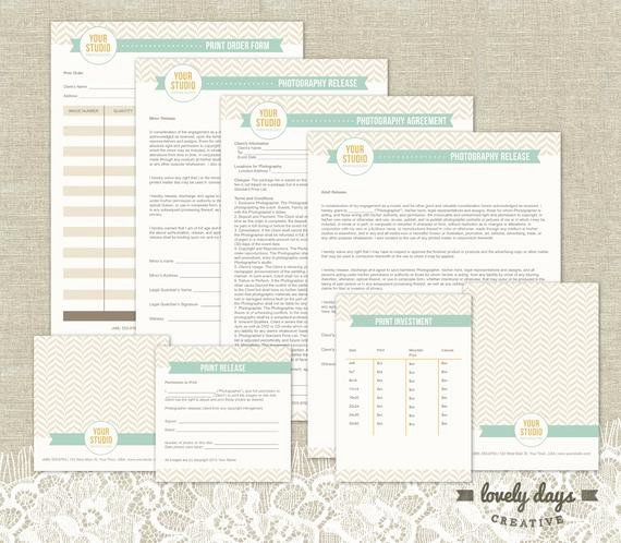 Photography Business Plan Template Fresh Graphy Business forms Templates by Lovelydayscreative