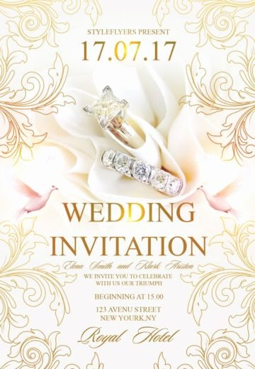 Photoshop Wedding Invitation Template Inspirational Download Free Wedding Flyer Psd Templates for Shop