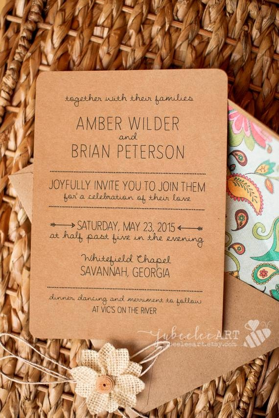 Photoshop Wedding Invitation Template Inspirational Rustic Hand Lettered Shop Template Wedding Invitation
