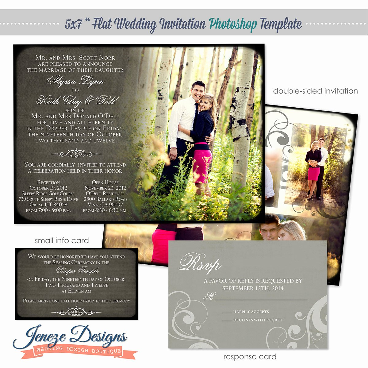Photoshop Wedding Invitation Template New Wedding Invitation Shop Template for Graphers Item