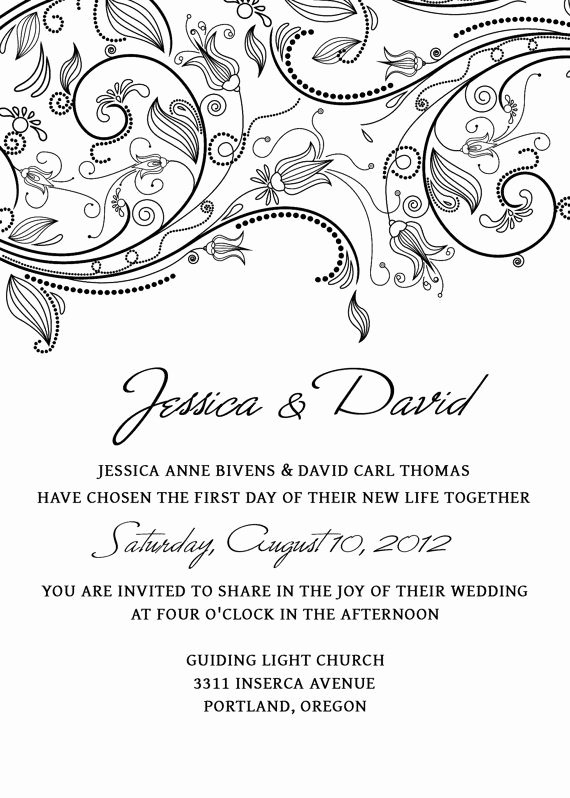 Photoshop Wedding Invitation Template New Wedding Invitation Template Set Shop Flowers