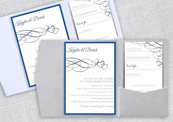 Pocket Wedding Invitation Template Awesome Pocket Wedding Invitation Template Set Instant by