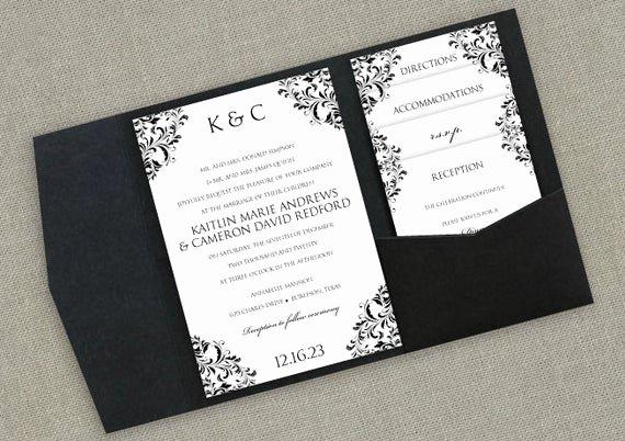 Pocket Wedding Invitation Template Beautiful Pocket Wedding Invitation Template Set Instant by