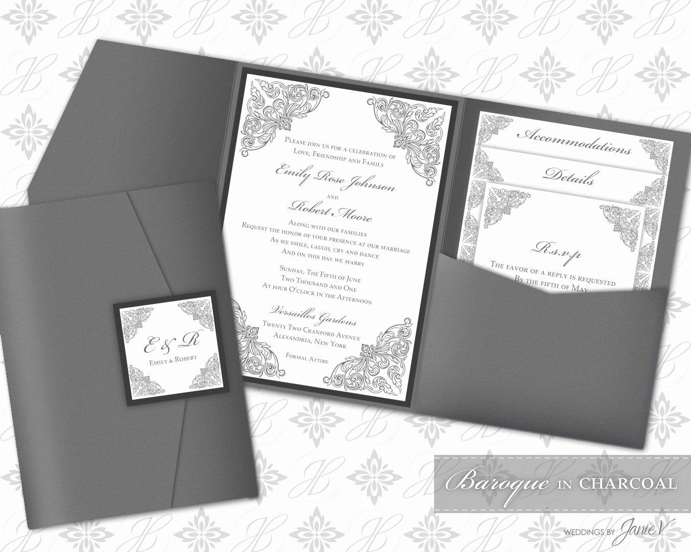 Pocket Wedding Invitation Template Best Of Printable Pocket Folder Invitation Digital Template Wedding