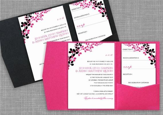 Pocket Wedding Invitation Template Elegant Pocket Wedding Invitation Template Set by Diyweddingtemplates