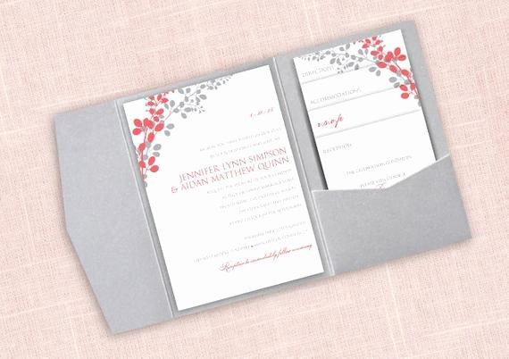 Pocket Wedding Invitation Template Elegant Pocket Wedding Invitation Template Set Download by
