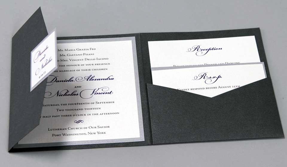 Pocket Wedding Invitation Template Elegant Wedding Invitations Of New York & Long island
