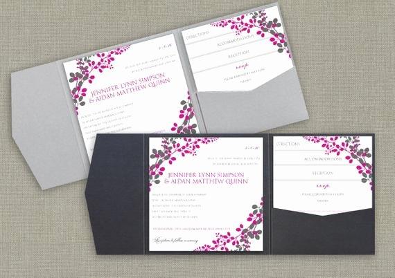 Pocket Wedding Invitation Template Inspirational 6x6 Pocket Wedding Invitation Template Set by