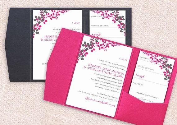 Pocket Wedding Invitation Template Lovely Pocket Wedding Invitation Template Set Download