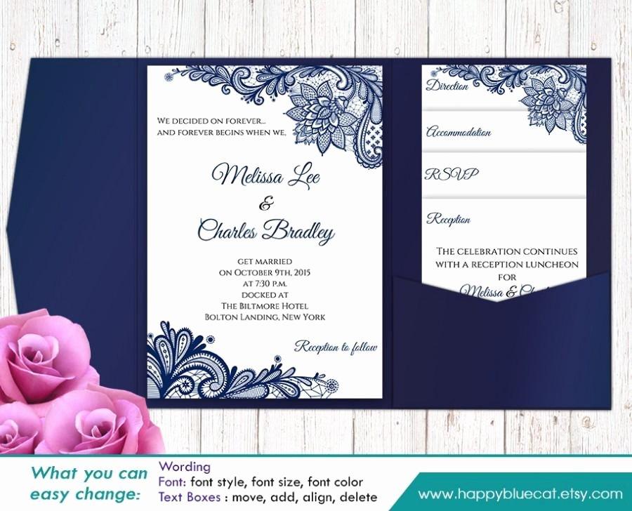 Pocket Wedding Invitation Template Luxury Sale Printable Pocket Wedding Invitation Template Set