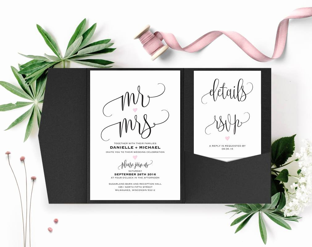Pocket Wedding Invitation Template Luxury Wedding Invitation Wedding Invitation Template Wedding