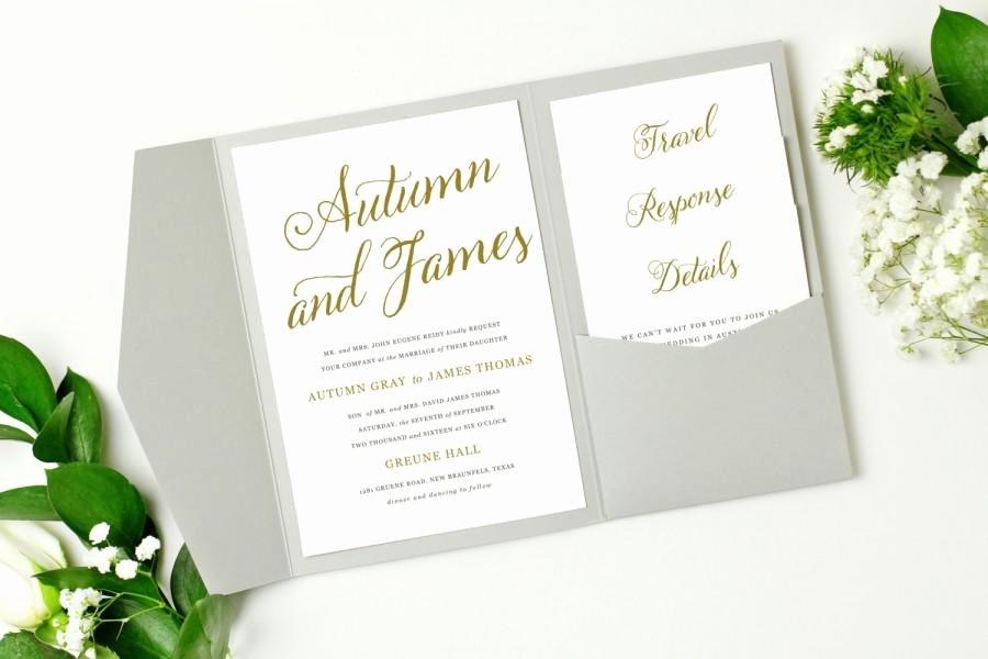 Pocket Wedding Invitation Template New Pocket Wedding Invitation Template Instant Download