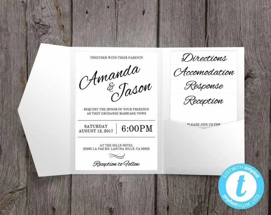 Pocket Wedding Invitation Template Unique Pocket Wedding Invitation Suite Printable Wedding